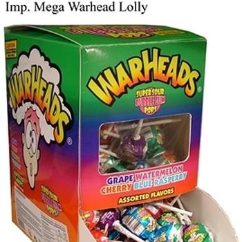100 WARHEADLOLLIES SOUR