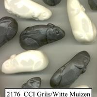1KG FK GRIJS/WITTE MUIZEN
