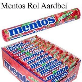 40 MENTOS ROL AARDBEI