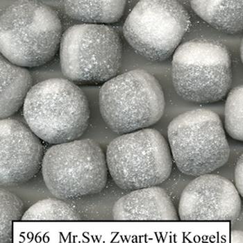220 MS ZWART/WIT KOGELS