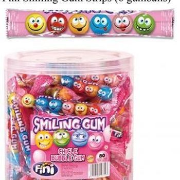 80 FINI SMILEY GUM STRIEP 6P